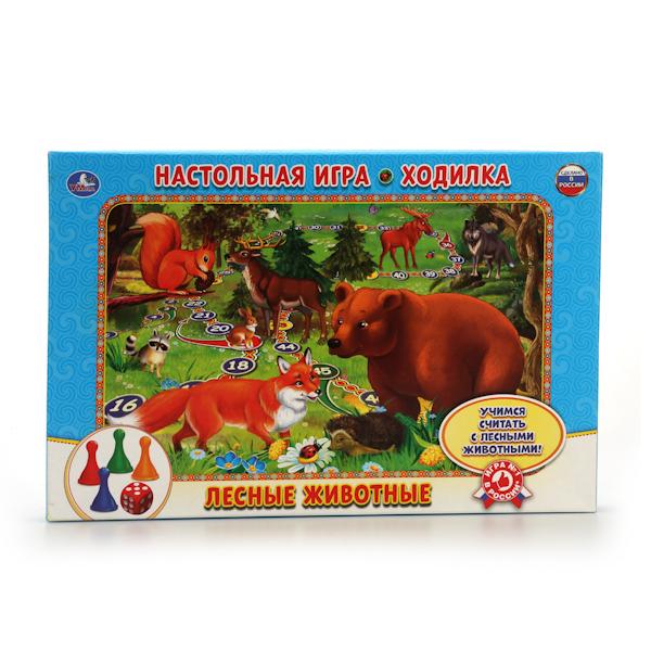 Настольная игра-ходилка - Лесные животные