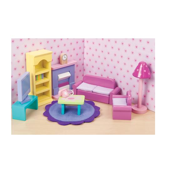 Кукольная мебель деревянная «Сахарная слива – Гостиная»Кукольные домики<br>Кукольная мебель деревянная «Сахарная слива – Гостиная»<br>