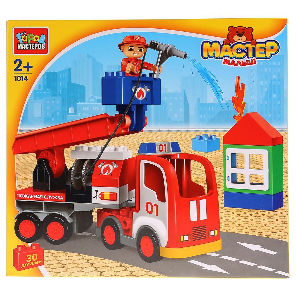 Купить Конструктор - Большие кубики: Пожарная машина, 30 деталей, Город мастеров