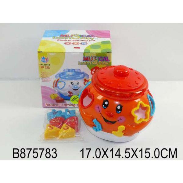 Обучающая игрушка «Горшочек», свет и звук, подвижнаяСортеры, пирамидки<br>Обучающая игрушка «Горшочек», свет и звук, подвижная<br>