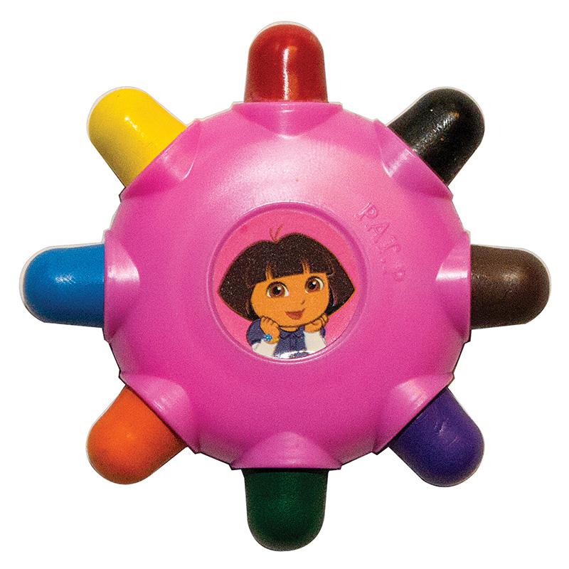 Восковые карандаши в виде диска, серии Даша-путешественница, 8 цветовКарандаши<br>Восковые карандаши в виде диска, серии Даша-путешественница, 8 цветов<br>