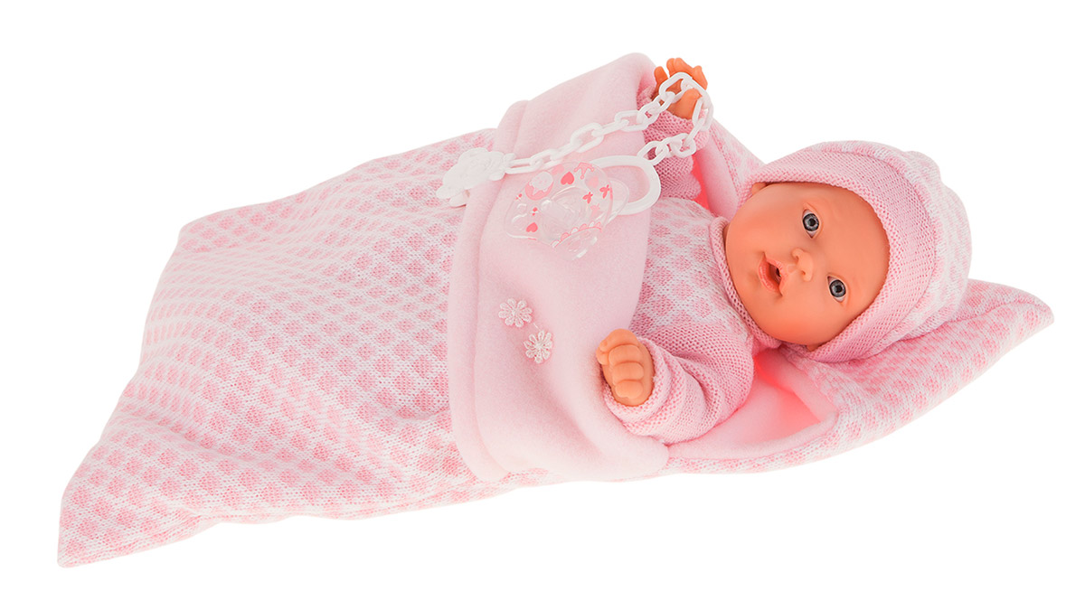 Купить Кукла Мерсе в розовом в конверте, плачет, 27 см., Antonio Juan Munecas