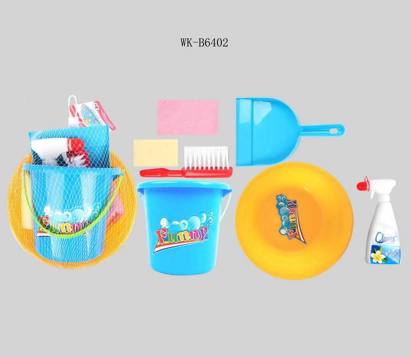 Набор для уборки, 7 предметов в наборе, в сетке