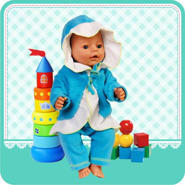 Комплект одежды для куклы ростом 40-42 см - пальто с капюшоном и брючки sim)Одежда для кукол<br>Комплект одежды для куклы ростом 40-42 см - пальто с капюшоном и брючки sim)<br>
