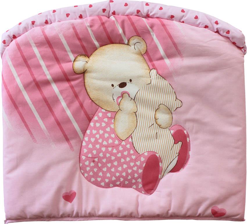 Бампер - Мишутка, розовыйДетское постельное белье<br>Бампер - Мишутка, розовый<br>