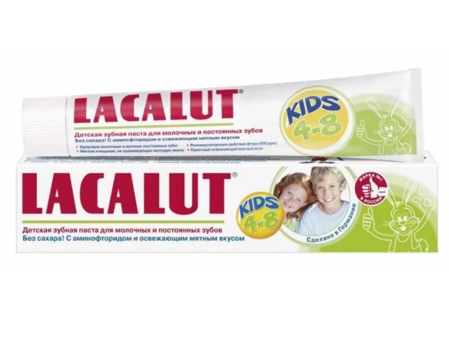 Купить Детская зубная паста - Лакалют Кидс, детская, 50 мл, 4-8 лет, Lacalut