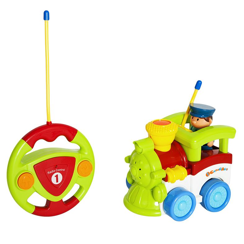 Радиоуправляемая игрушка - Паровозик, 2 канала, свет, музыка
