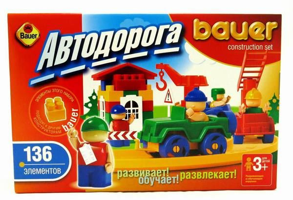 Автодорога New, 136 элементаКонструкторы Bauer Кроха (для малышей)<br>Автодорога New, 136 элемента<br>
