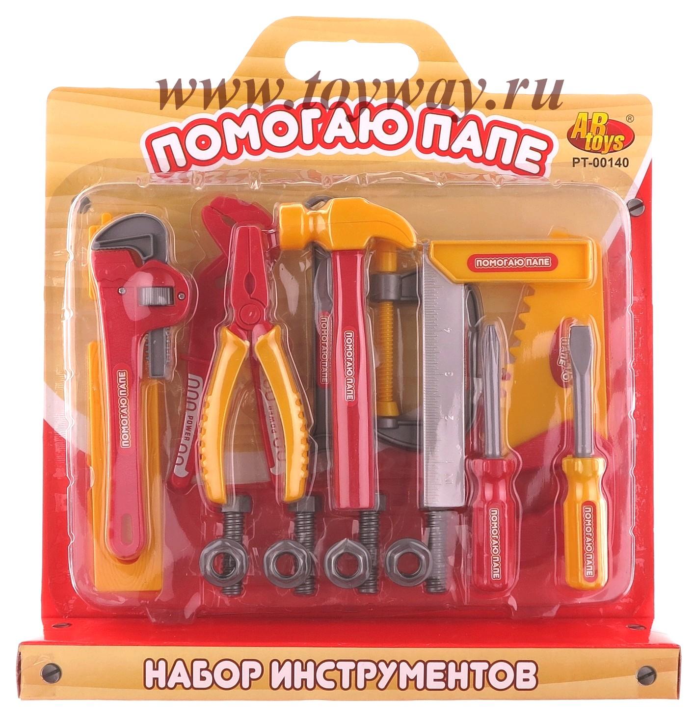 Игровой набор инструментов, 20 предметовДетские мастерские, инструменты<br>Игровой набор инструментов, 20 предметов<br>