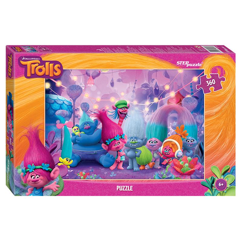 Купить Пазл Trolls, 360 элементов, Step Puzzle