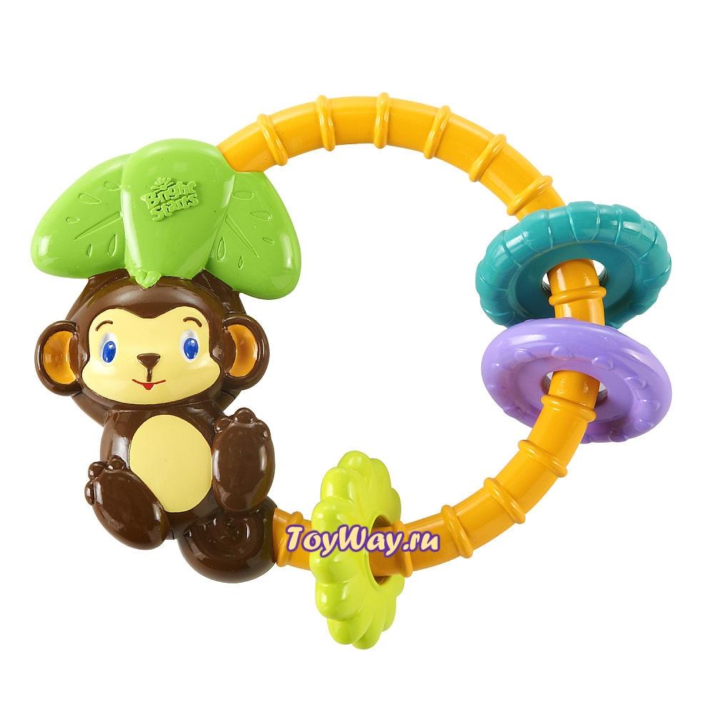 Развивающая игрушка-погремушка «Обезьянка»Детские погремушки и подвесные игрушки на кроватку<br>Развивающая игрушка-погремушка «Обезьянка»<br>