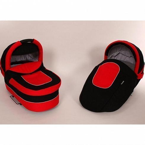 Коляска Baby-Merc Maylo Classic 2 в 1, красно-чернаяДетские коляски 2 в 1<br>Коляска Baby-Merc Maylo Classic 2 в 1, красно-черная<br>