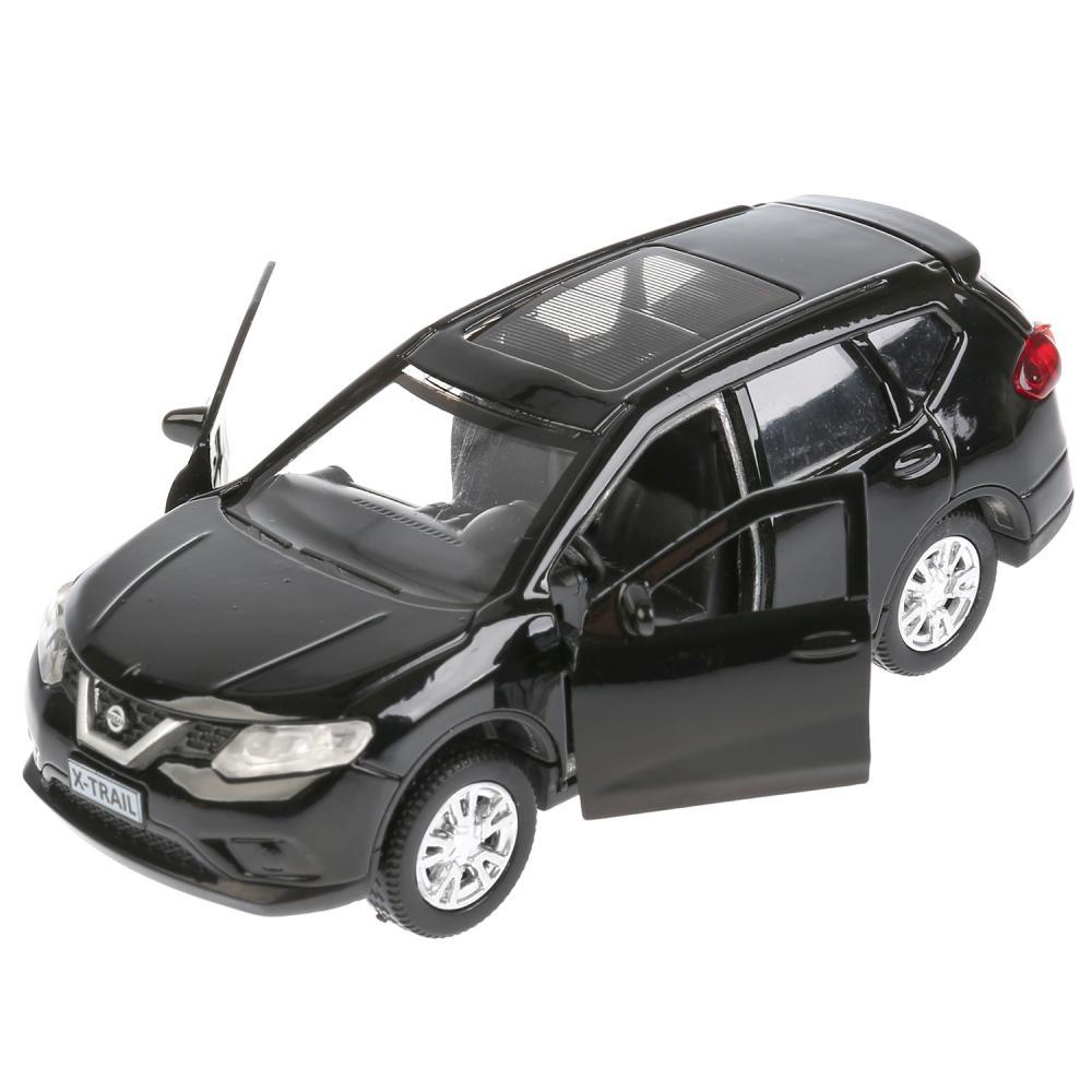 Инерционная металлическая машина - Nissan X-Trail, 12 см, черный, открываются двери