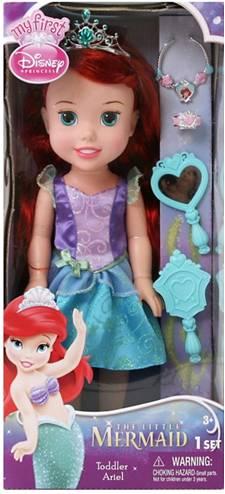 Кукла-малышка с украшениями, серия Принцессы Дисней, Disney PrincessКуклы Disney: Ариэль, Золушка, Белоснежка, Рапунцель<br>Кукла-малышка с украшениями, серия Принцессы Дисней, Disney Princess<br>