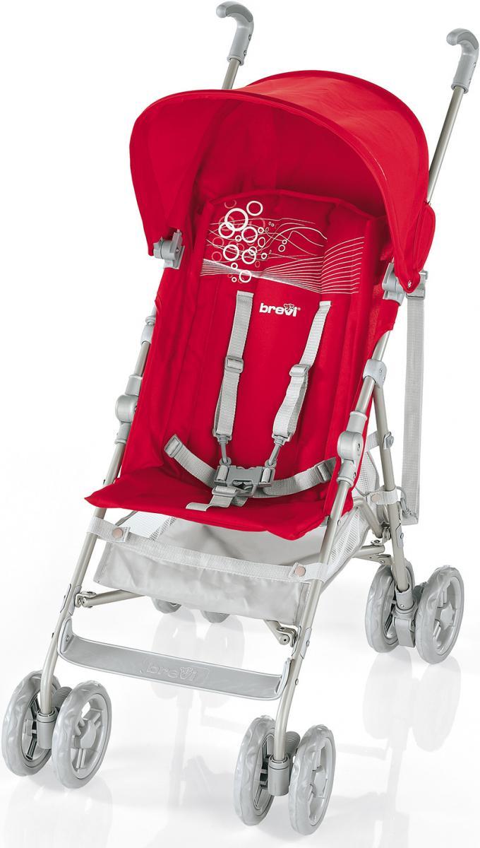 Коляска Brevi прогулочная B-Light, краснаяКоляски для детей<br>Коляска Brevi прогулочная B-Light, красная<br>