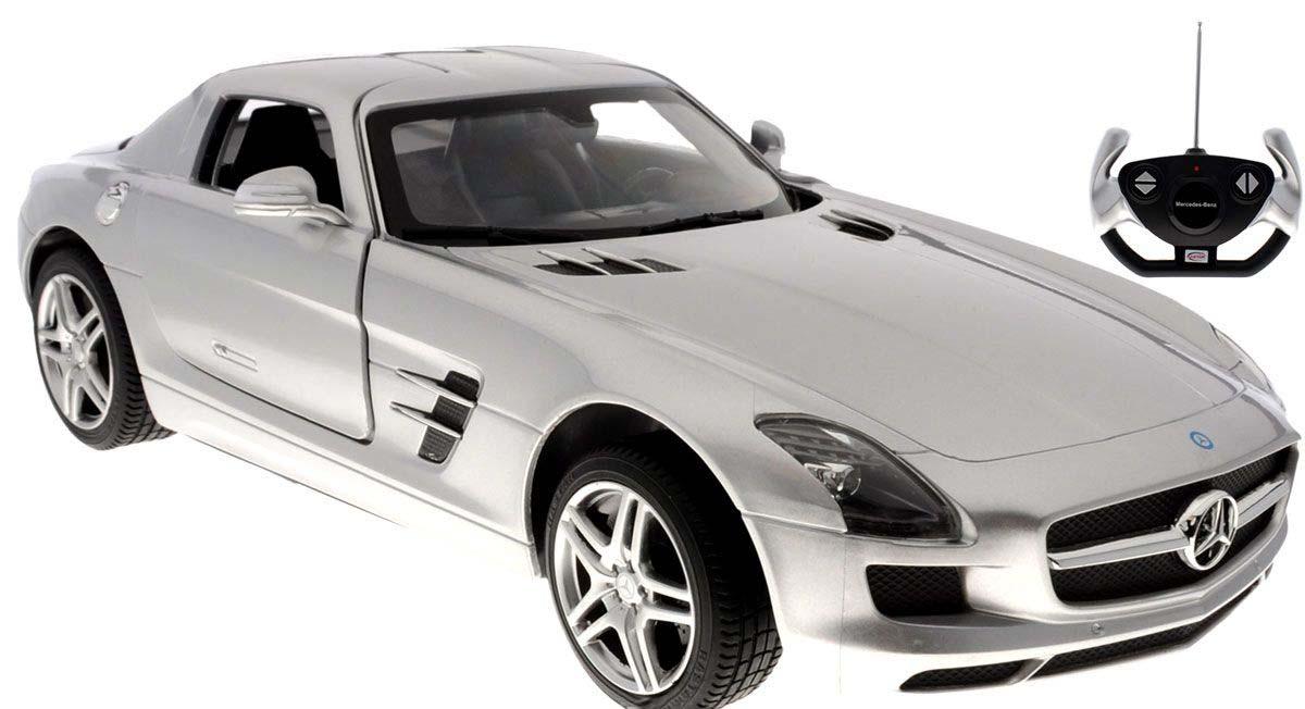 картинка Машина на р/у - Mercedes-Benz SLS AMG, серебристый, 1:14 от магазина Bebikam.ru