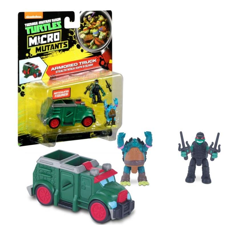 Микро-набор - Бронированный грузовик Черепашек-ниндзя с фигурками Рафа и СлешаЧерепашки Ниндзя<br>Микро-набор - Бронированный грузовик Черепашек-ниндзя с фигурками Рафа и Слеша<br>