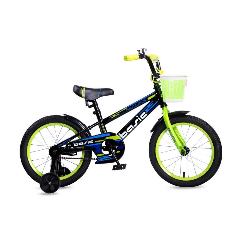 Купить Детский велосипед Navigator Basic, колеса 16 , стальная рама, стальные обода, ножной тормоз