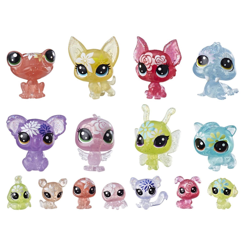 Набор игровой из серии Littlest Pet Shop - Букетный набор петов, 16 фигурок фото