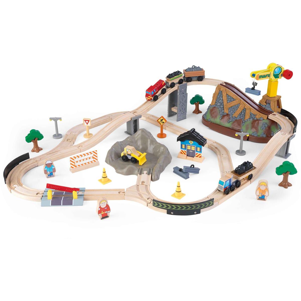 Деревянная железная дорога – Горная стройка, в контейнере KidKraft