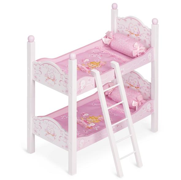 Кроватка для куклы двухъярусная серии Мария, 57 см