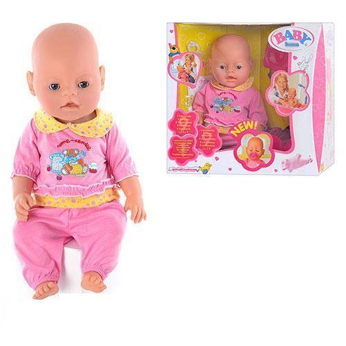 Пупс Baby Doll, пьет, писает, сосет соскуПупсы<br>Пупс Baby Doll, пьет, писает, сосет соску<br>