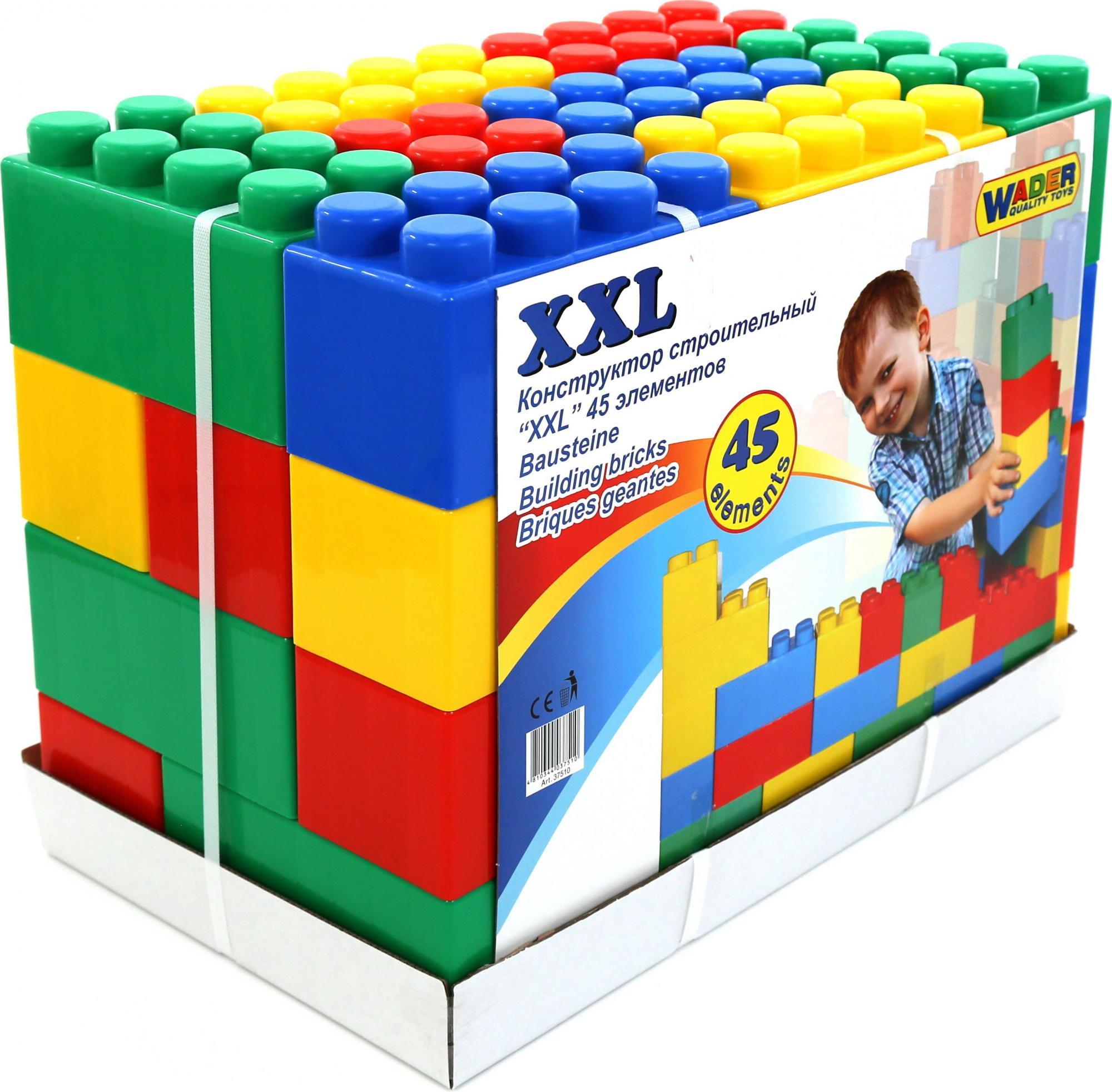 Конструктор строительный размер XXL, 45 элементовКонструкторы Полесье<br>Конструктор строительный размер XXL, 45 элементов<br>