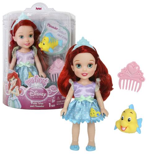Кукла-малышка с питомцем серии Принцессы Дисней, Disney PrincessКуклы Disney: Ариэль, Золушка, Белоснежка, Рапунцель<br>Кукла-малышка с питомцем серии Принцессы Дисней, Disney Princess<br>