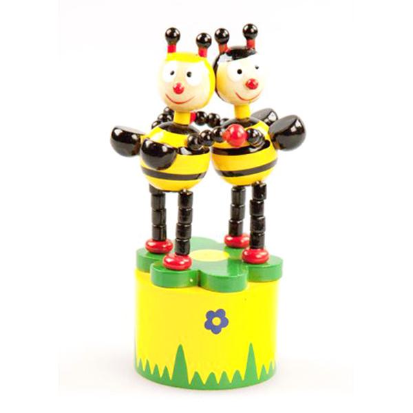 Деревянная игрушка - Танцующие пчелкиРазное<br>Деревянная игрушка - Танцующие пчелки<br>