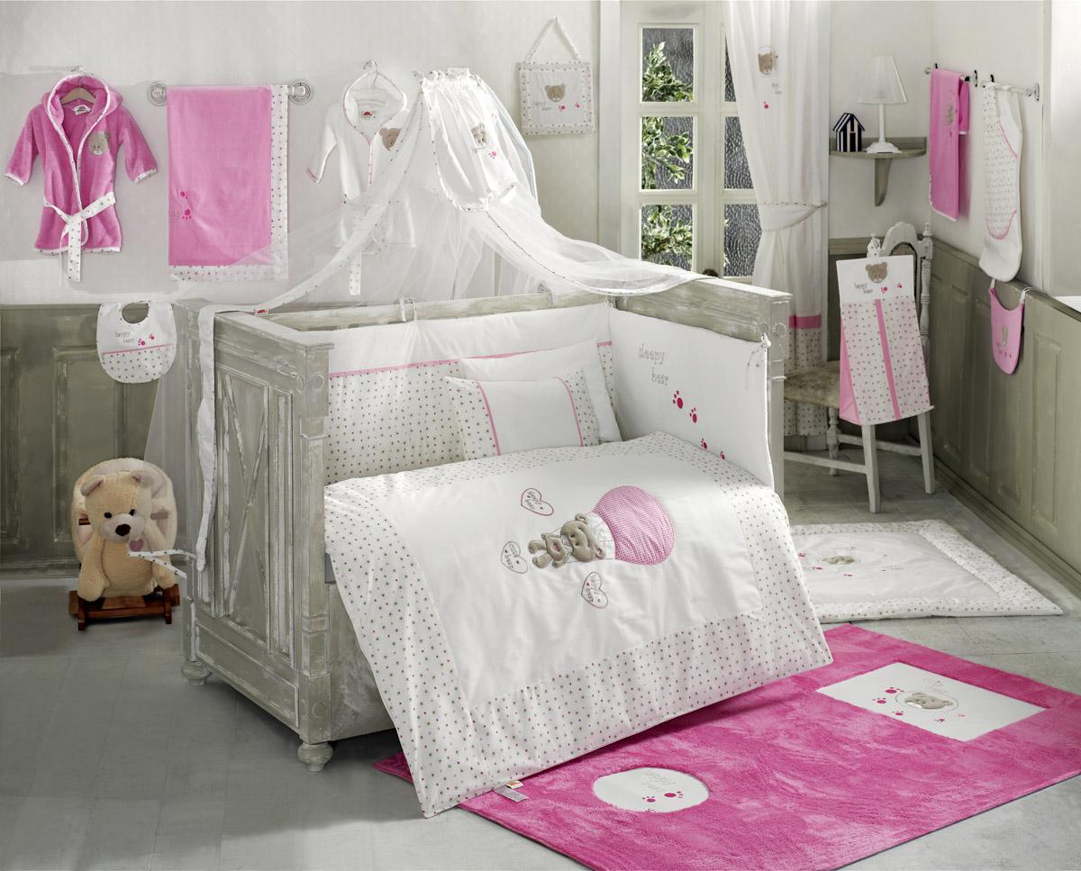 Балдахин серии Cute Bear 150 х 450 см, PinkДетское постельное белье<br>Балдахин серии Cute Bear 150 х 450 см, Pink<br>