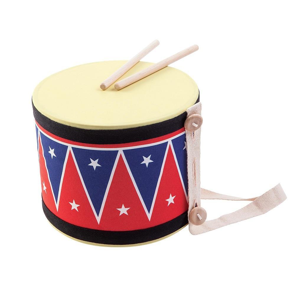 Купить Барабан большой с 2 палочками, Plan Toys