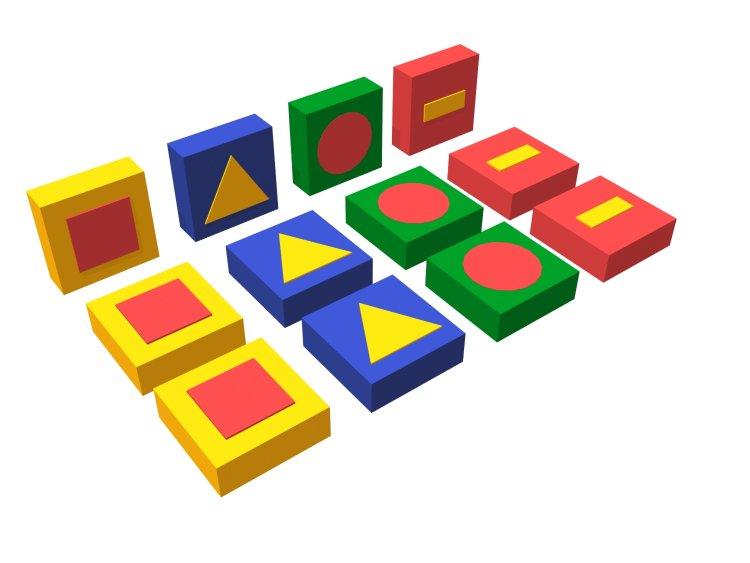 Мягкий конструктор - Обучающие фигурыМягкие игровые комплексы<br>Мягкий конструктор - Обучающие фигуры<br>