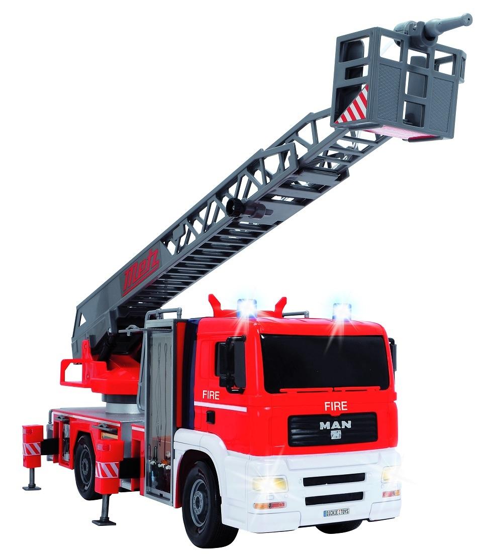Пожарная машина Dickie Toys на пульте управления, свет + звукПожарная техника, машины<br>Пожарная машина Dickie Toys на пульте управления, свет + звук<br>