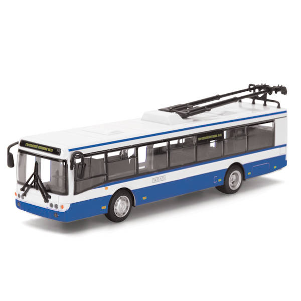 Троллейбус металлический инерционныйГородская техника<br>Троллейбус металлический инерционный<br>
