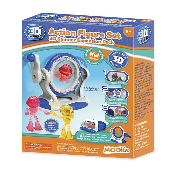Набор формочек 3D Magic - 3D Maker ЧеловечкиДетский 3D принтер QIXELS<br>Набор формочек 3D Magic - 3D Maker Человечки<br>