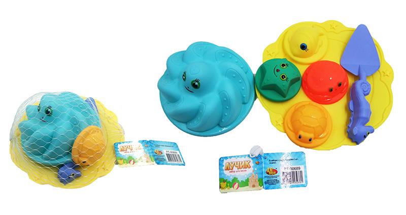 Купить Набор для игр с песком Морской из серии Лучик, 7 предметов, ABtoys