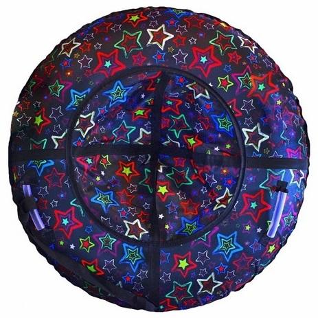 Купить Санки надувные - Тюбинг RT - Звезды разноцветные, диаметр 118 см