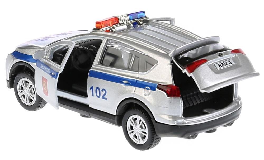 dce5f35c7355 Инерционная машинка – Toyota RAV4 Полиция. Металл, 12 см, свет и звук