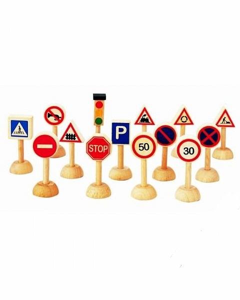 Набор - Дорожные знакиЗнаки дорожного движения, светофоры<br>Набор - Дорожные знаки<br>
