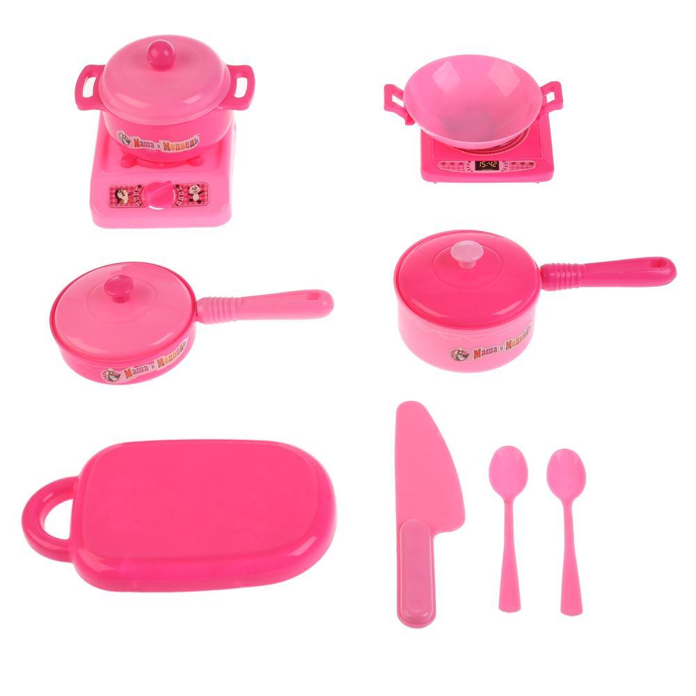 Купить Набор пластиковой посуды из серии Маша и Медведь, 12 предметов, Играем вместе
