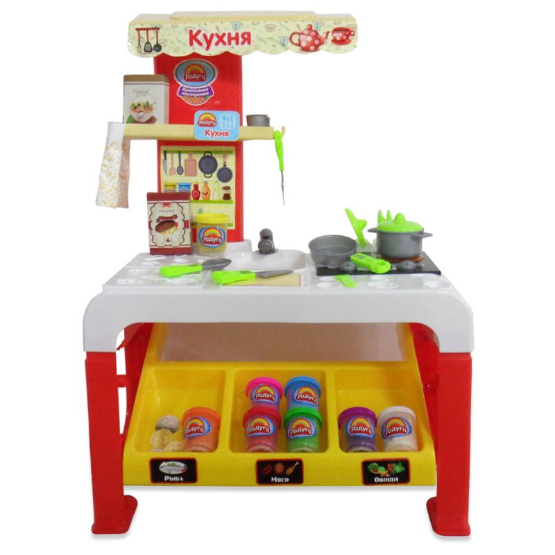 Набор - Креативная мастерская, кухня с аксессуарами для лепкиДетские игровые кухни<br>Набор - Креативная мастерская, кухня с аксессуарами для лепки<br>