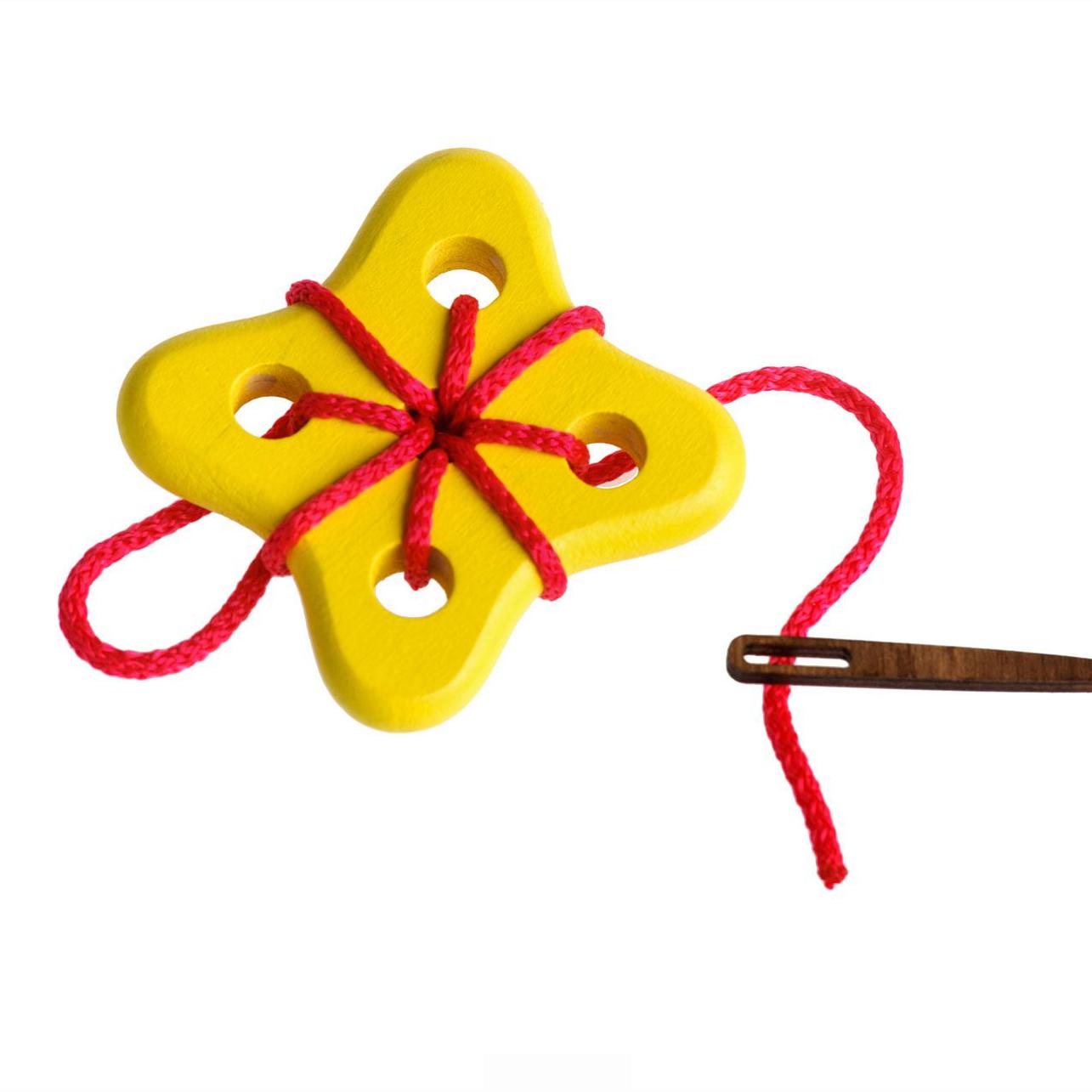 Шнуровка - Цветок 3, 3 деталиШнуровка<br>Шнуровка - Цветок 3, 3 детали<br>