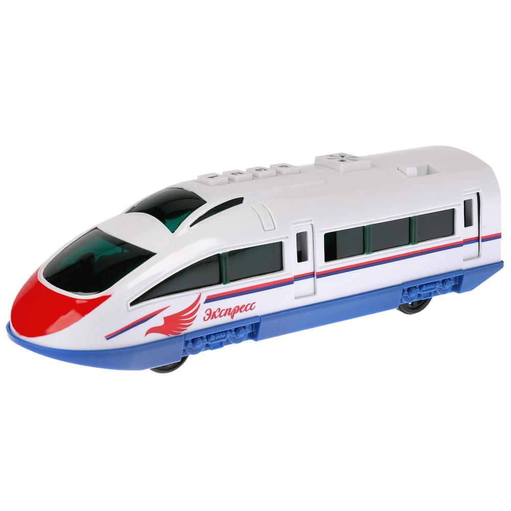 Купить Скоростной Поезд, 23 см, свет и звук, пластик, инерционный, открываются двери, Технопарк