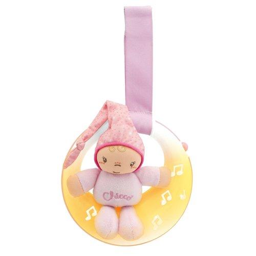 Музыкальная подвеска «Спокойной ночи, луна», розоваяРазвивающие Игрушки Chicco<br>Музыкальная подвеска «Спокойной ночи, луна», розовая<br>