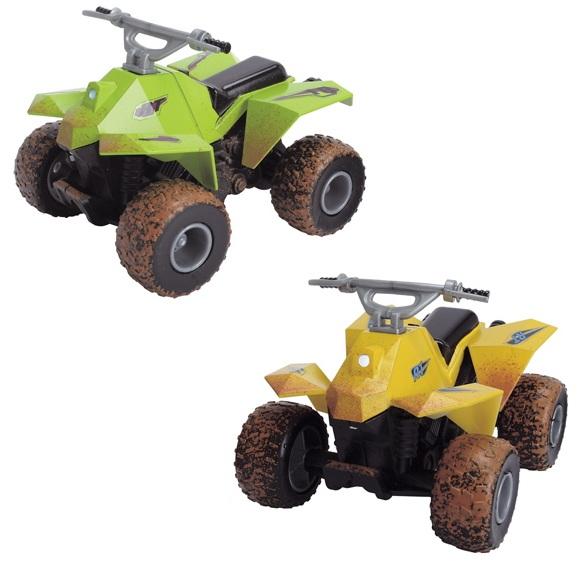 Квадроцикл фрикционный со светом и звуком, 8 смМотоциклы<br>Квадроцикл фрикционный со светом и звуком, 8 см<br>