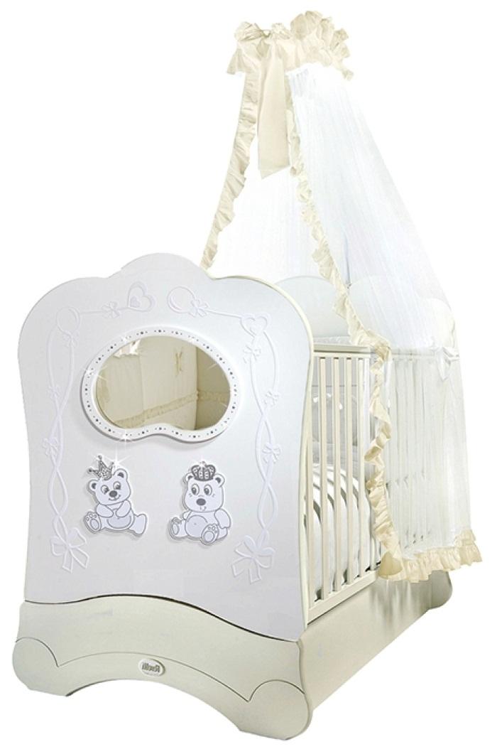 Кровать детская Feretti Fms Oblo Majesty Brillante Bianco/WhiteДетские кровати и мягкая мебель<br>Кровать детская Feretti Fms Oblo Majesty Brillante Bianco/White<br>