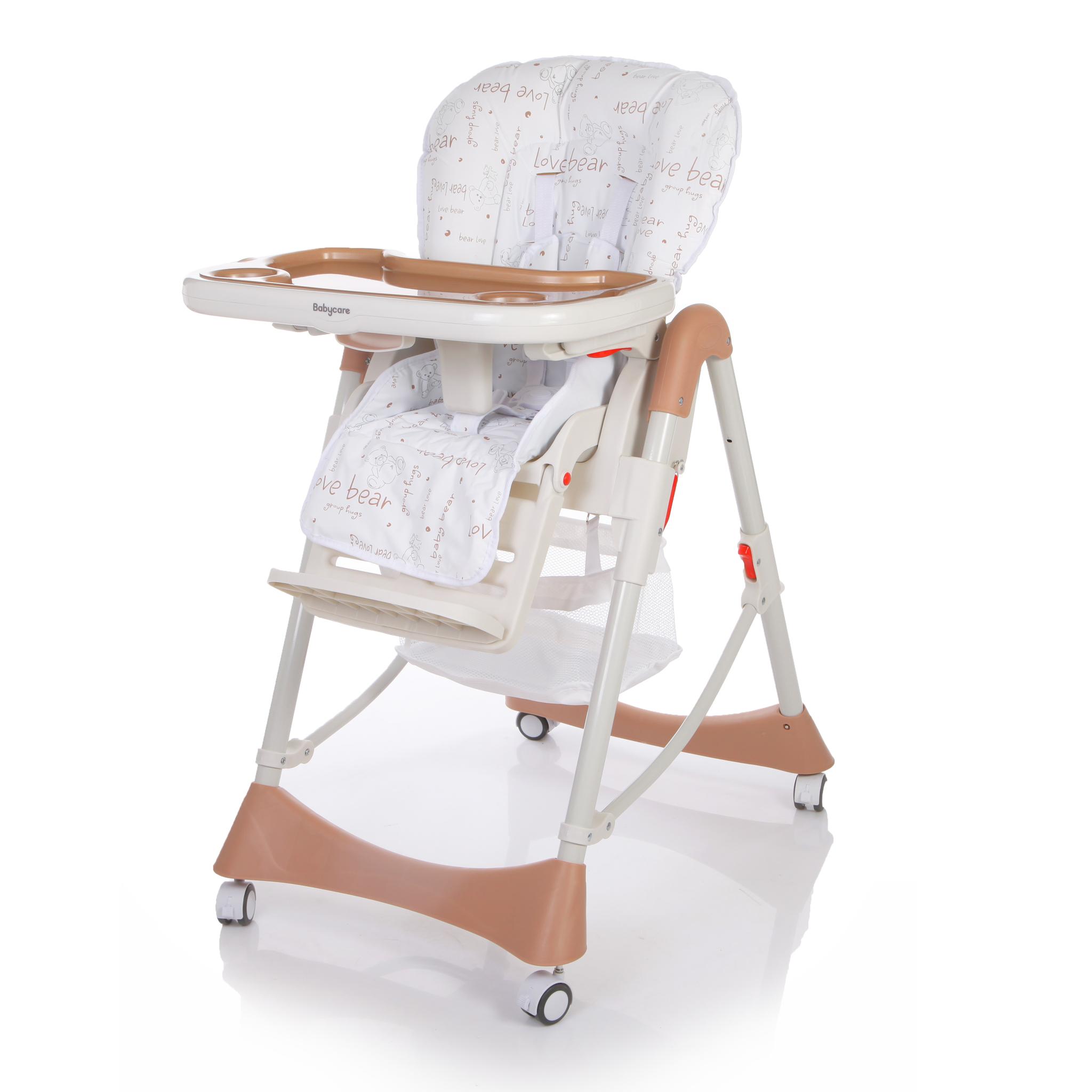 Детский стульчик для кормления Baby Care – Love Bear, коричневыйСтульчики для кормления<br>Детский стульчик для кормления Baby Care – Love Bear, коричневый<br>