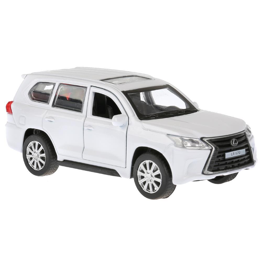 Купить Машина металлическая Lexus LX-570, длина 12 см., открываются двери и багажник, инерционная, белая, Технопарк