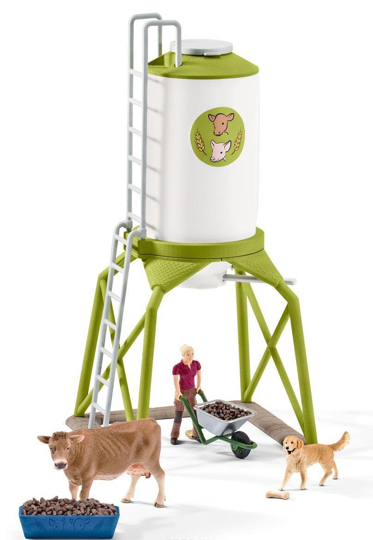 Купить Игровой набор Вышка с кормом и животными, Schleich