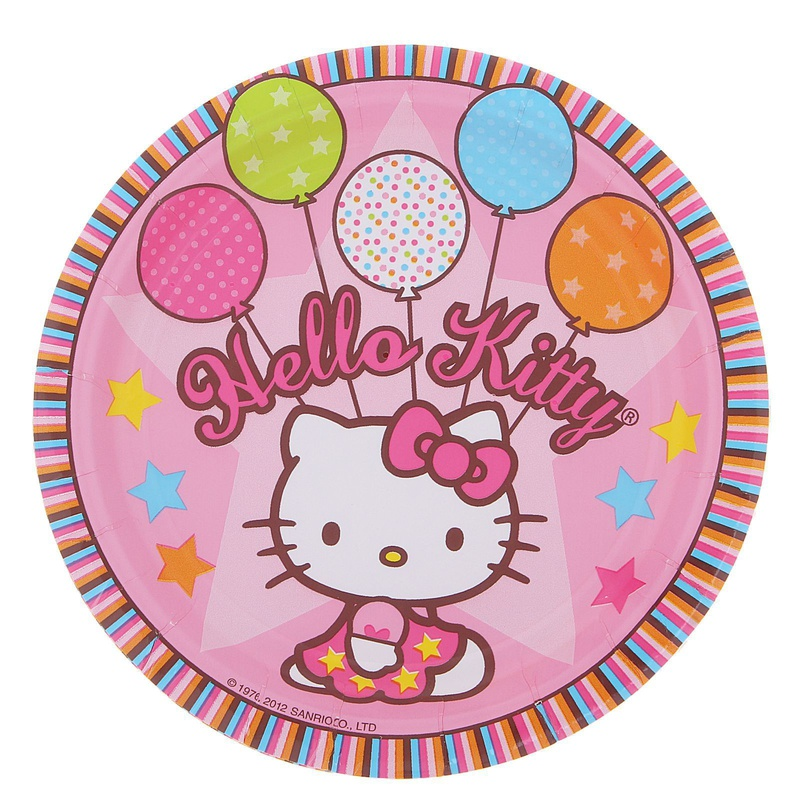 Набор тарелок Hello Kitty 17см, 8 штукПрочие серии<br>Набор тарелок Hello Kitty 17см, 8 штук<br>